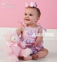 Magic cube Baby romper Baby kids One-Piece girl tape dress Romper sleeveless bodysuit 0608