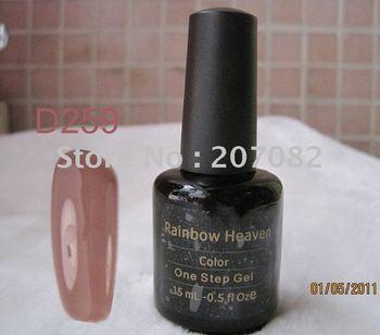 Free Shipping  Nail Polish no base no top LED soak off one step gel nail polish UV GEL D259 COLOR 15ML