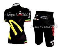 Free Shipping!! WOMEN CYCLING JERSEY+SHORTS BIKE SETS CLOTHES 2011 AMORE&VITA- BLACK-SIZE:S-4XL