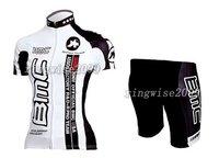 Free Shipping!! WOMEN CYCLING JERSEY+SHORTS BIKE SETS CLOTHES 2011 BMC-WHITE-SIZE:S-4XL