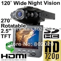 Factory offer ~ free ship! 2.5inch AV/TV OUT 1280*720P 30FPS full HD HDMI car camera cheapest hot sale