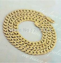 60cm fashion chain men 18k yellow gold filled luxury men chain necklace jewelry jewelry chain necklace(China (Mainland))