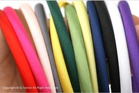 Free Shipping 20pcs/lot Mix Color Satin Hairband Hair Ornaments HJ09