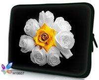 50pcs Free FEDEX Shipping 14.4inch Flowers Design Rose Sunflower Laptop Bag Notebook Sleeve Case