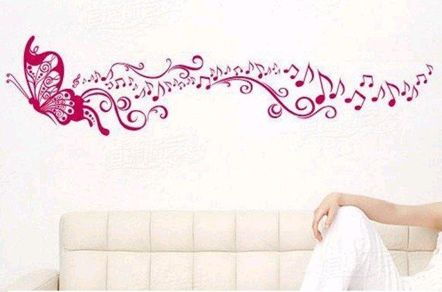 Camera Da Letto E Soggiorno Insieme : Music Wall Decal Butterflies