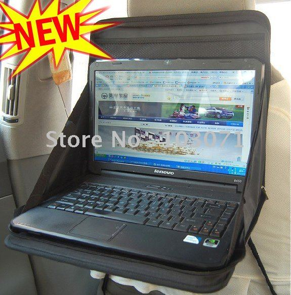 Newest--Portable Folding Car Notebook PC Laptop Cup Desk Table Mount Holder Tray Back Seat Organizer 02(China (Mainland))