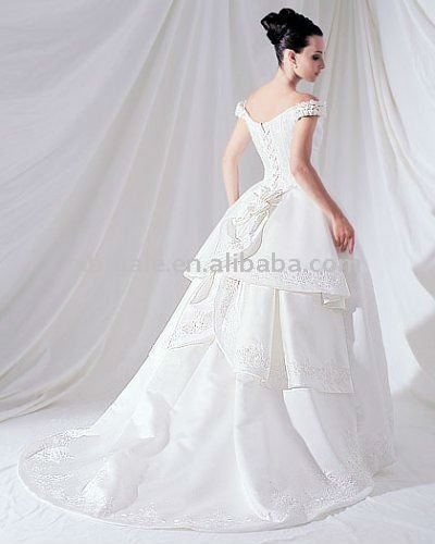 Strapless Satin Fashion Wedding Gown(China (Mainland))