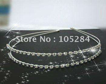 Free shipping!20pcs/lot wholesales crystal headband wedding crown