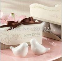 Free shipping to South America 100 pcs/lot, 2010 newest wedding favor, love bird salt pepper shaker