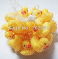Free shipping 20pcs/lot Wholesale mini Rubber duck bath duck Pvc duck with sound Floating Duck Fast delivery