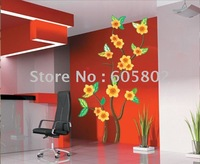 wholesale-Decorative DIY Home Decor, Flowers Wall Stickers, Sittng Room Wall Decals, HL907
