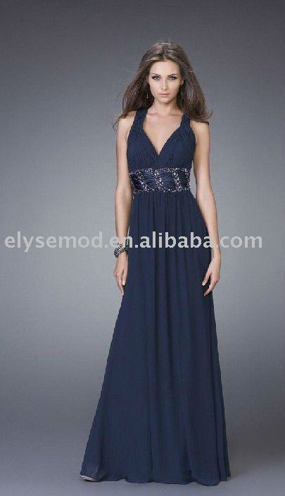 Latest look of new style straps evening dress prom dress(China (Mainland))