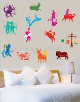 Free shipping,51*78cm DIY wall stickers,Animals wallpaper, Room Wall Decor,HL5880