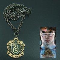 Harry Potter Slytherin Black Metal Necklace 10 pcs L242
