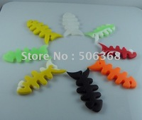 500pcs/lot**fish bone style earphone ornaments & wraps Earphone Cord Winder for earphone wire tidy up