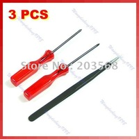 Free shipping!25sets/lot Tri Wing Cross Screwdriver Clip F  DS Lite/Wii