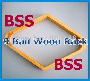 Free Shipping 6pcs/lot via EXPRESS 9 Ball Rack Natural Finish Pool Table Billiards Wood NEW