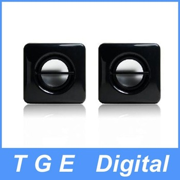 Free Shipping! 3.5mm Jack USB Digital Stereo Multimedia Mini Speaker Black