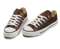 Free Shipping 1pair Brown Low style canvas shoes sneaker Men's /Women's canvas shoes  12 colors