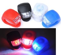 wholesale--bicycle front light silicon light bicycle warning 100pcs/lot+ free shipping