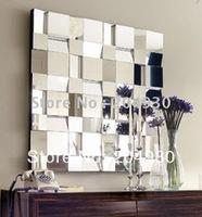 Square Muti Facet Zig Zag Wall Mirror for home Decorative