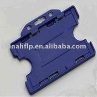 clear horizontal abs hard plastic id holder