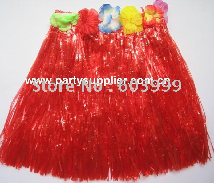 30cm Hawaiian Skirt for kids, Hawaiian Luau party costume, assorted colors Hawaiian Luau Skirts, 20 pcs /lot, Free Shipping(China (Mainland))