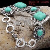 TIBET STYLE TIBETAN SILVER TURQUOISE Bracelets.Wholesale Cheap New arrival Bracelets(GB-001)