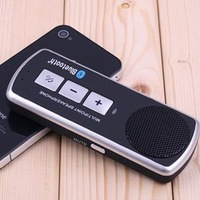 Free shipping Handfree Bluetooth Multipoint Speaker Microphone Carkit Bluetooth Car Sun Visor Handsfree Wireless SpeakerPhone
