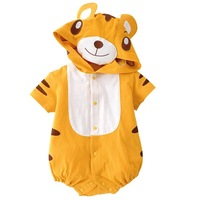 free shipping  yellow tiger baby romper