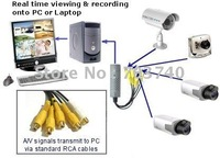 20pcs/lot USB 2.0 USB DVR Video Audio Capture Adapter 4 CHANNEL Easycap