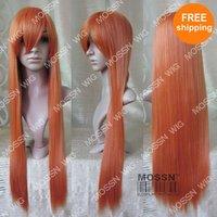 "Free Shipping 31"" Anime Cosplay Wig Long Orange Hair Wigs"