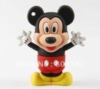 Lovely Mickey Rubber USB Flash Disk Drive 1GB 2GB 4GB 8GB 16GB 32GB 64GB