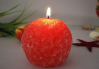 Wedding Candles, Rose Ball Candles, wedding gifts candle