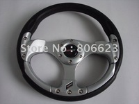 SILVER BATTLE SPORT STEERING WHEEL FIT MANY MODEL