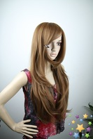 2011 new fashion , 30inch 210g long silky straight party wig+free shipping