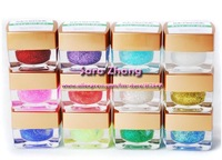 Keystone 12 COLOR fine glitter soak off UV GEL Set 8ml/pot Free shipping UGK12