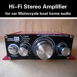 2 Channel Mini HiFi Audio Stereo Conputer Car Motorcycle boat home audio Amplifier Loud speaker(China (Mainland))