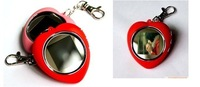 Free Shipping 1.5 inch Heart Shape Key Chain Mini LCD Digital Photo Frame With Retail Package
