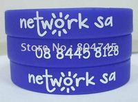 202x12x2mm custom design silicon bracelet, printing bracelet, promotion bracelet, 100pcs/lot