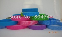 202x12x2mm, debossed bracelet, silicon wristband, custom design, promotion gift, 100pcs/lot