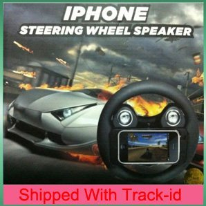 Controller for iphone 4,Game wheel speaker Steering Wheel Controller for iphone 4,Free shipping with track-id,retail package(China (Mainland))