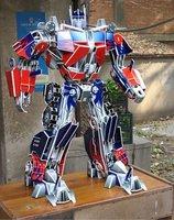 Educational Building toy,3D DIY Models,Home Adornment, Puzzle Toy,Paper model,Papercraft,Optimus Prime