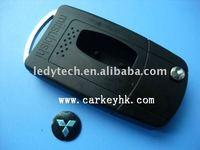 Good quality Mitsubishi flip modified remote key blank