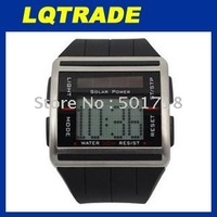 Wholesale Sport Digital Solar Power Binary Watch with Scrolling Time Black