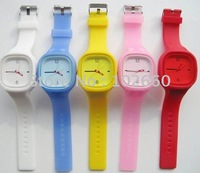 5pcs/Lot silicone square watch sport watch fashion watch  free shipping