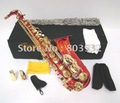 Nice Red Gold Lacquer Alto Saxophone Sax high F# W/case