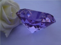 "FREE SHIPPING--3"" 80mm Lavender Crystal Diamond Wedding favour Party Favor Decoration New arrinval"