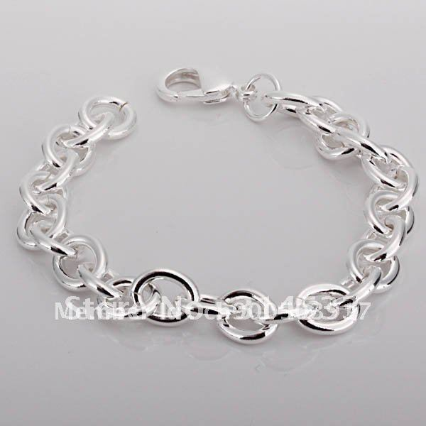 hot!!!Lovely Fashion Silver Chain Bracelet(China (Mainland))