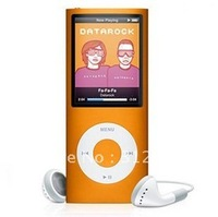 4th 16GB Mp4 music player,brand new 4th gen MP4 16GB,FM radio,E-book Orange mp3 player,fast free shipping